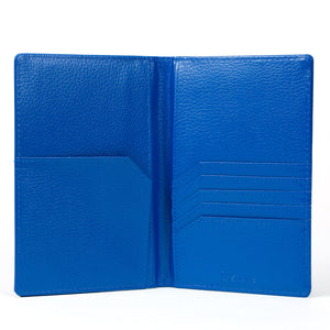 Stone Passport Wallet interior, blue.