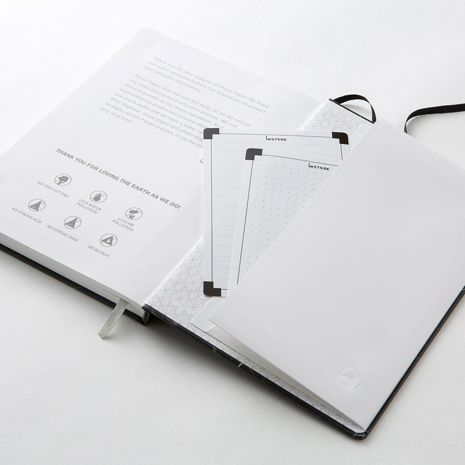 RockBook, A5 Hardcover; storage pocket.