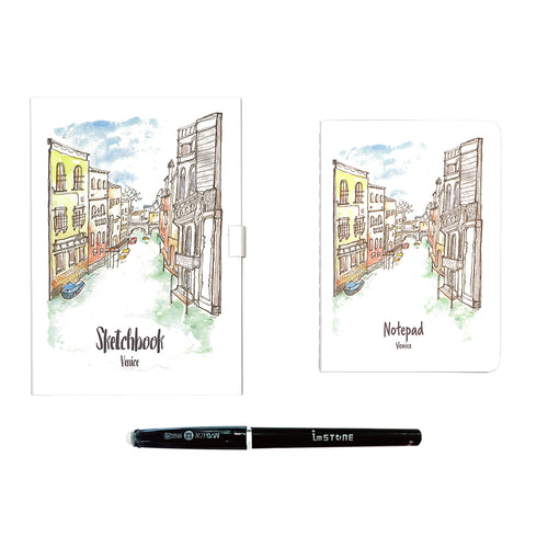 Drawing Book + Passport Book Bundle — Venice