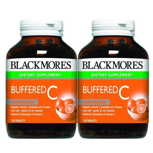 VALUE BUY!!BLACKMORES Buffered C 120 Tablets Twin Pack Offer.Acid free vitamin C