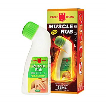 Made in Singapore Local Eagle Brand - Bundle of 6 X Eagle Muscle Rub 85ml
