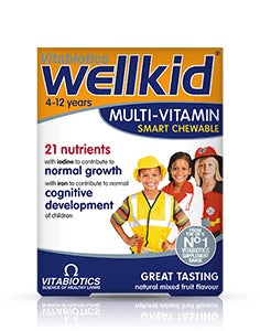 Vitabiotics Wellkid Multi-vitamin Smart Chewables 30s