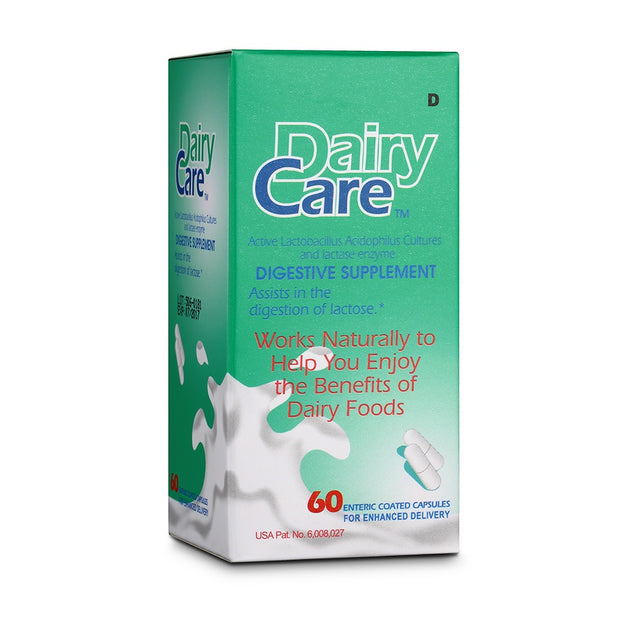 Dairycare Capsules 60s -  digestive supplement for Lactose Intolerance