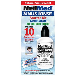 Neilmed Sinus Rinse Starter Kit with 10 Sachets