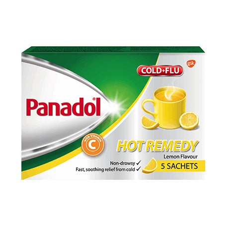 6 X Panadol ColdFlu Hot Remedy With Vitamin C Sachets