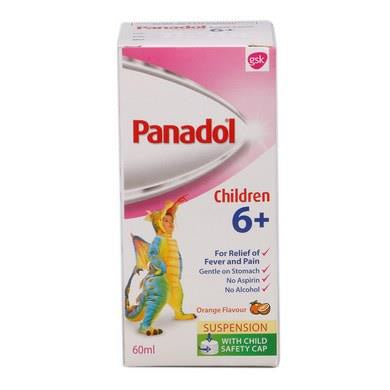 Bundle of 6 X Panadol Suspension 60ml for 6years above.