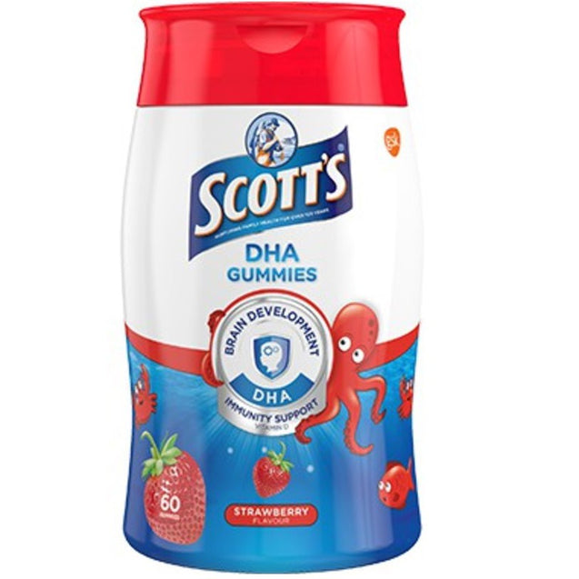 Scotts DHA chewable Gummy strawberry 60s