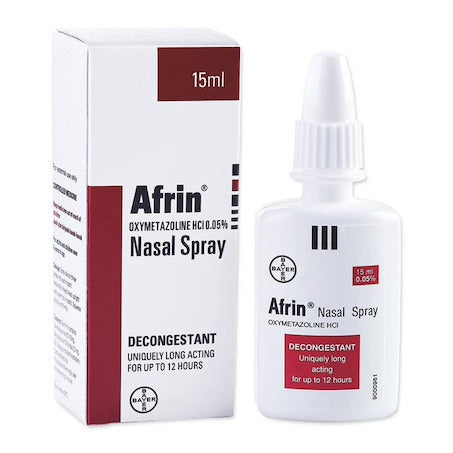 Afrin Nasal Decongestant Spray 15ml 0.05%