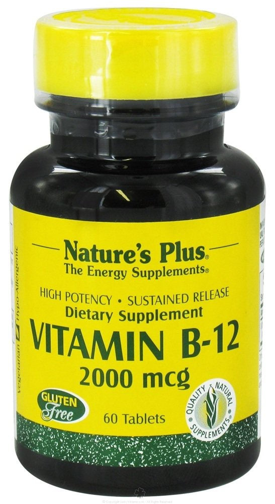 Natures Plus Vitamin B12 (Methylcobalamin) -  90 Vegetarian Tablets