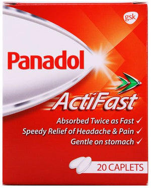6 X Panadol Actifast Tablet White 500mg 2X10