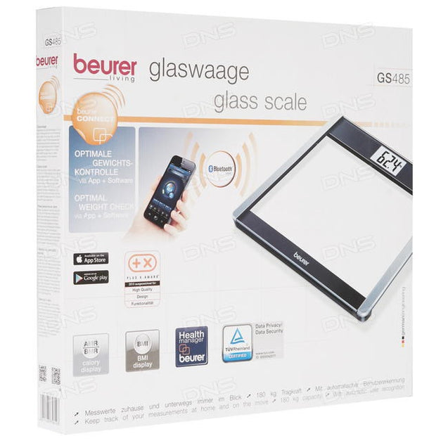 Beurer GS 485 Glass Scale bluetooth