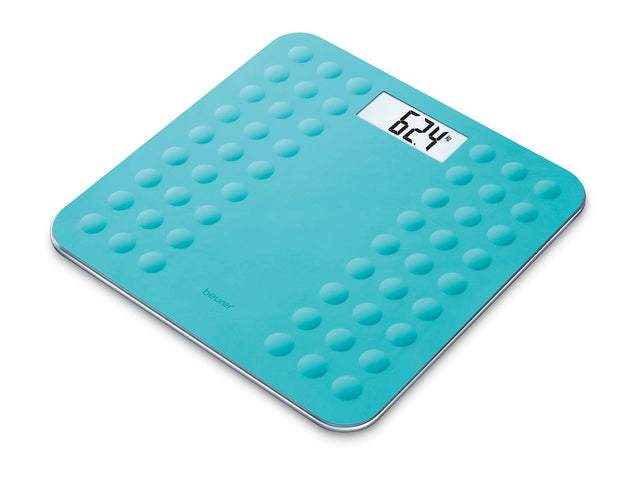 Beurer GS 300 glass bathroom scale in turquoise
