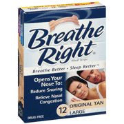 Breathe Right Nasal Strip Tan Large size 12s