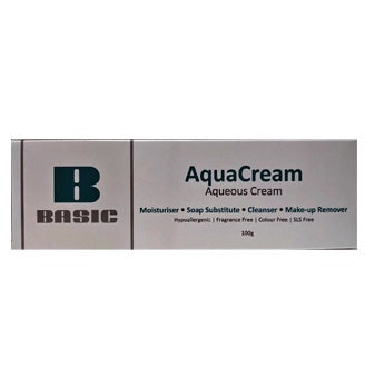 Twin Pack - 2 X Basic AquaCream Aqueous Cream 100gm - For dry sensitive skin.