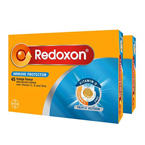 Redoxon Triple Action Effervescent Tab Orange 2x45s