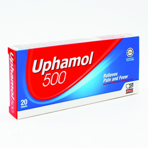 Uphamol 500mg  tab - Generic paracetamol for relief of pain and fever