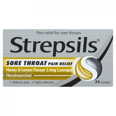 Strepsils Lozenges Relief Honey  Lemon - 24s