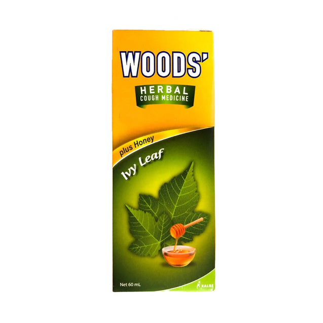 Woods Herbal mint Cough Syrup Ivy Leaf Plus Honey 60ml