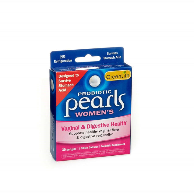 Green life Probiotic Pearls Womens Digestive  Yeast Balance 30 Softgels