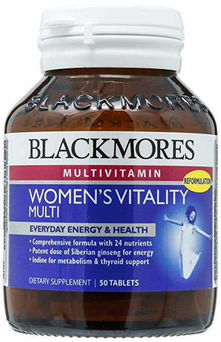 BLACKMORES WOMENS VITALITY MULTI 50s TWIN PACK