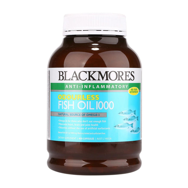 Blackmores Odourless Fish Oil 1000mg 400s x2