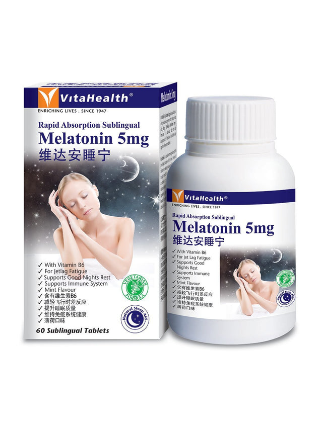 Vitahealth Melatonin 5mg 60sX2 TwinPack