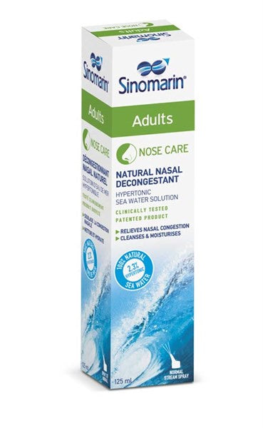Sinomarin Natural Nasal Decongestant Adult Spray 125ml