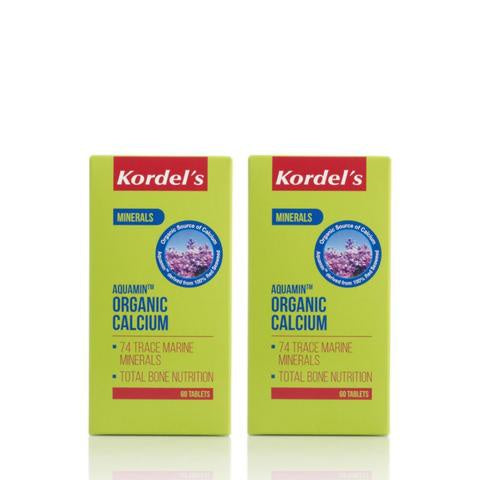 Kordels Organic Calcium 60 Tablets Twin Pack