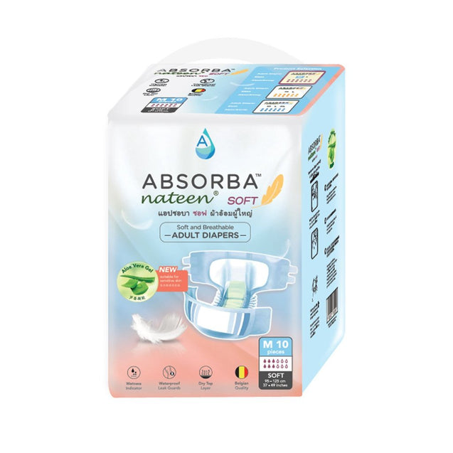 ABSORBA Nateen (Soft) Adult Diapers 10s