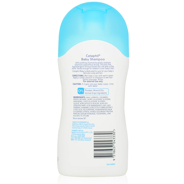 Cetaphil Baby Shampoo 200ml_backview