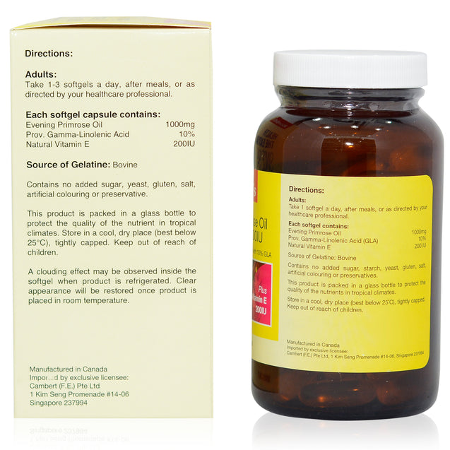 Kordel Evening Primrose Oil 90s_sideview