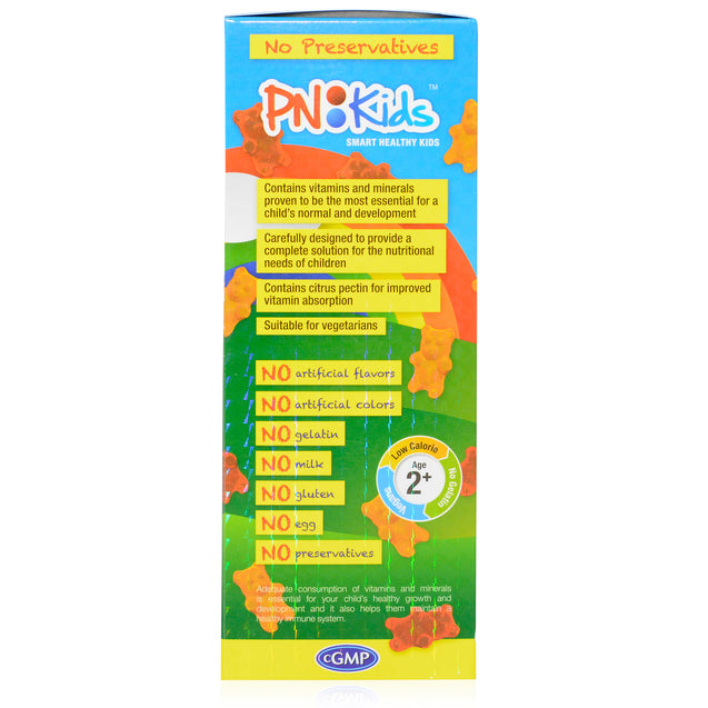 PN Kids MultiVitamin + Minerals Boys 60's_sideview 1