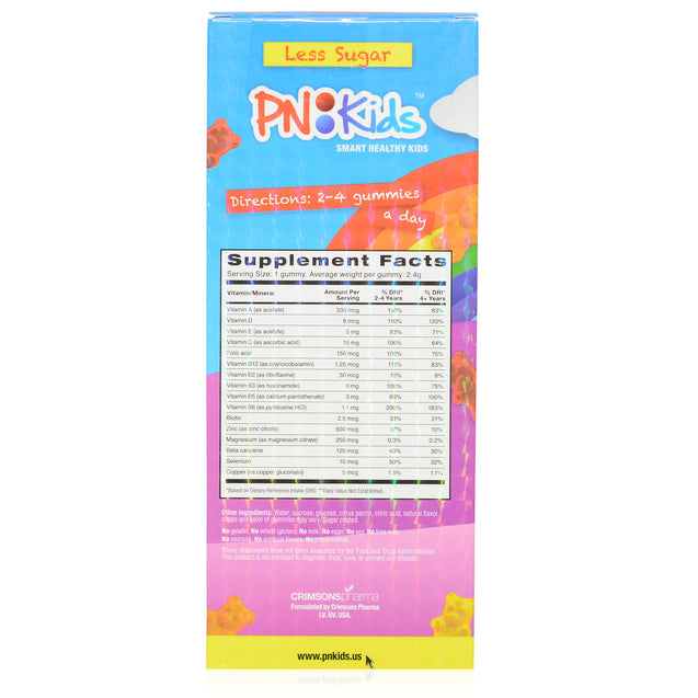 PN Kids MultiVitamin + Minerals Girls 60's_backview