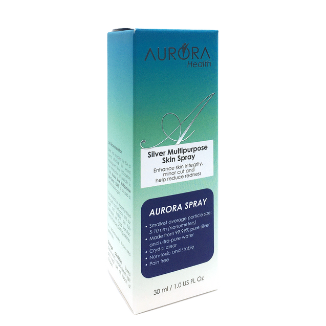 Aurora Silver Antiseptic spray - Highly effective Nanosize Silver particles for cuts, scars, diabetic wound