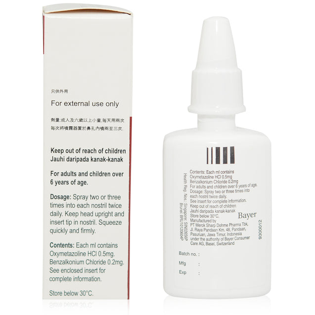 Afrin Nasal Spray 15ml_backview