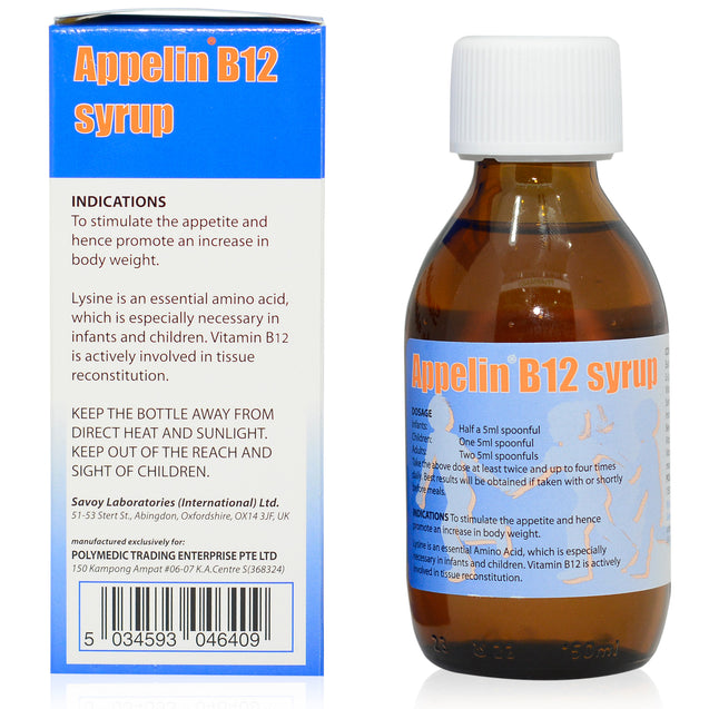 Appelin B12 Syrup 150ml_backview