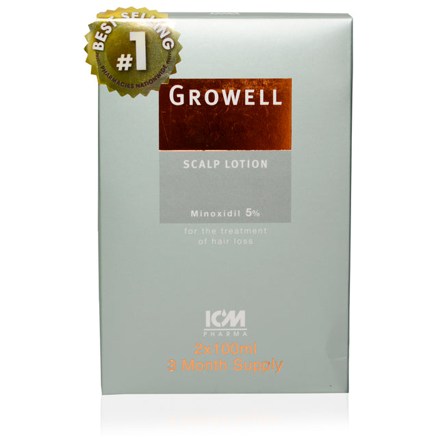 Growell Hairloss Lotion 5% - 3 Months Supply (200ml)