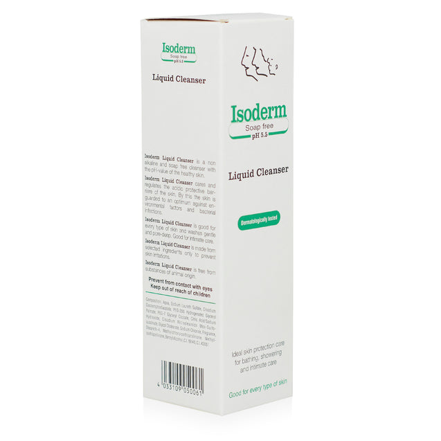 Isoderm Liquid Cleanser 250ml_side