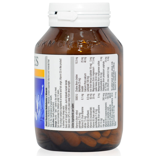 Blackmores Multivitamins and Minerals 120s_backview