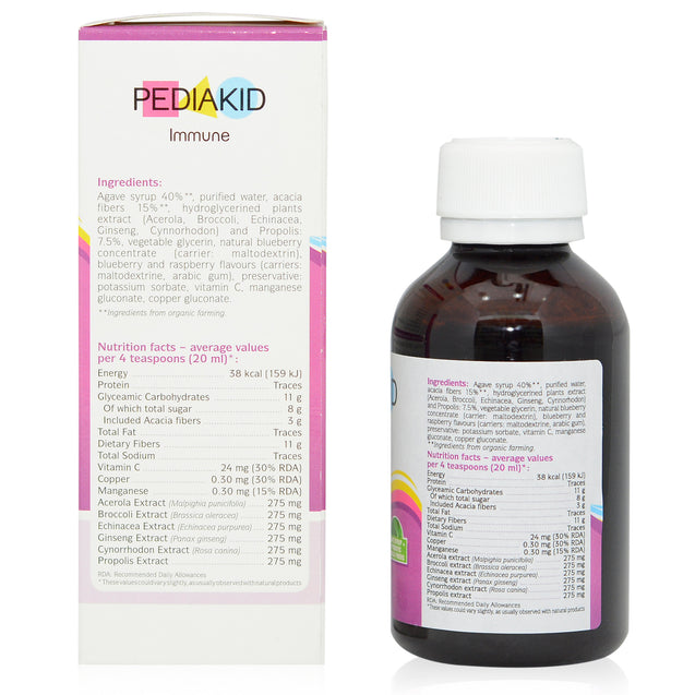 Pediakid Immune 125ml_sideview 2