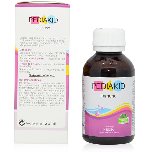 Pediakid Immune 125ml_sideview 1