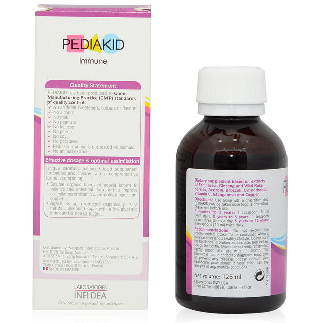 Pediakid Immune 125ml_backview