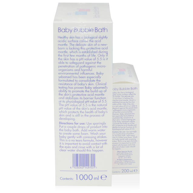Sebamed Baby Bubble Bath 1000ml + 200ml_sideview 2