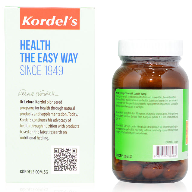 Kordel Lutein 40mg 90s_sideview