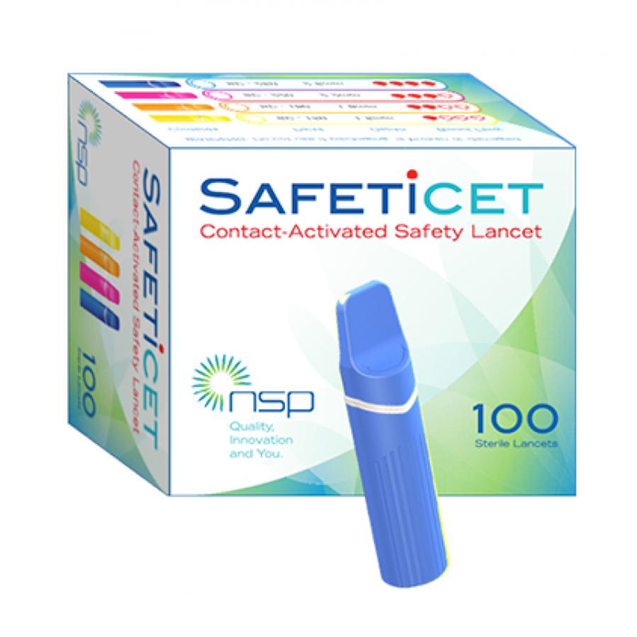 Safeticet Lancets  -Easy and Painless to test blood glucose.No need lancing device.Locally made!