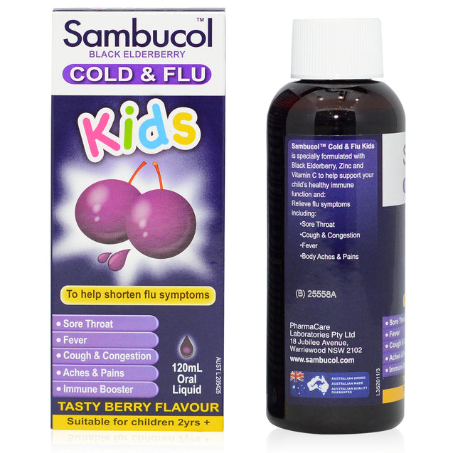 Sambucol Kids Cold & Flu 120ml