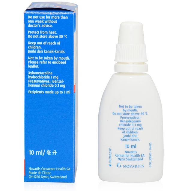Otrivin Adult Nasal Spray 0.1% 10ml_sideview