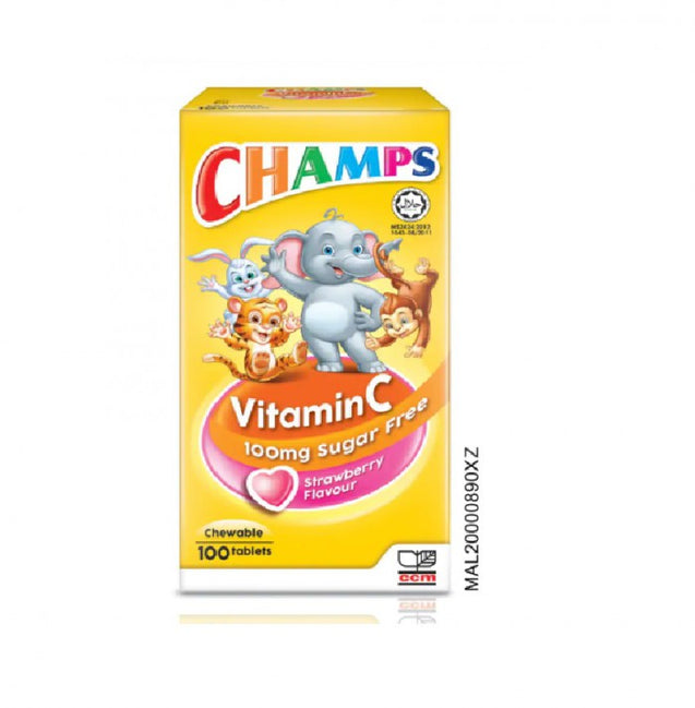 Champs Vitamin C Strawberry 100s