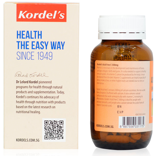 Kordel Acid Free C 500mg 120s_backview