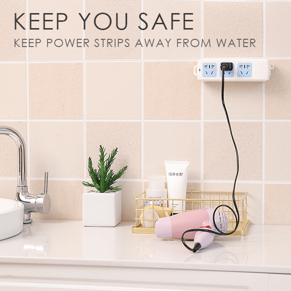 ( Hot Sale Today! Up to 50% discount!) Power Strip Wall Mounted Fixer